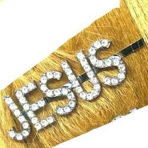 JESUS and Love hair pins